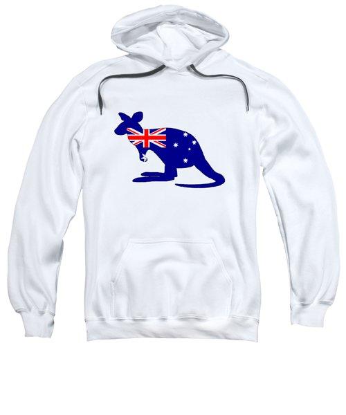 Australian Flag - Kangaroo Sweatshirt by Mordax Furittus
