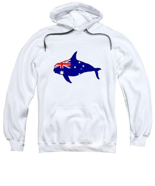 Australian Flag - Killer Whale / Grampus / Orca Sweatshirt by Mordax Furittus