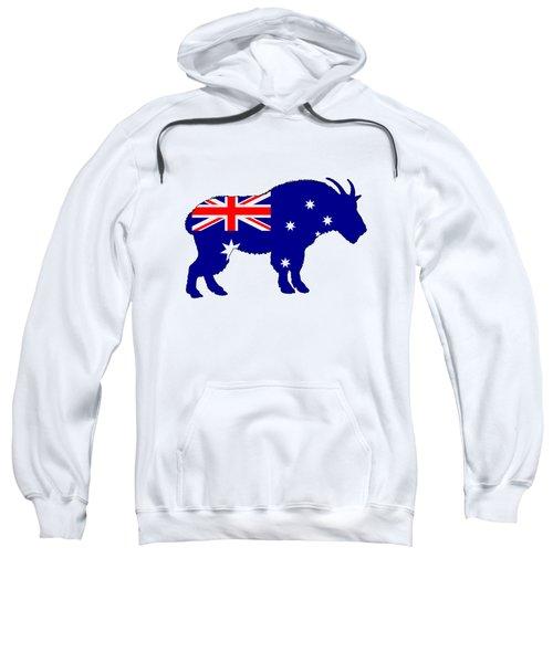 Australian Flag - Mountain Goat Sweatshirt by Mordax Furittus