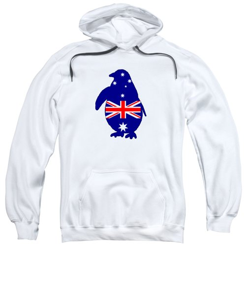 Australian Flag - Penguin Sweatshirt by Mordax Furittus