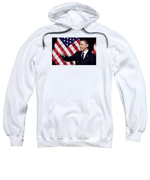 Barack Obama Sweatshirt by Iguanna Espinosa