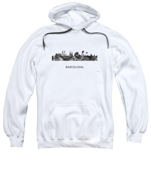 Barcelona Spain Skyline Sweatshirt by Marlene Watson