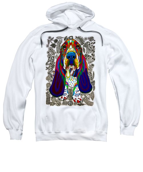 Basset Hound Sweatshirt by Pet Coloring Pages