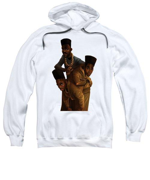 Bdk White Bg Sweatshirt by Nelson Dedos Garcia
