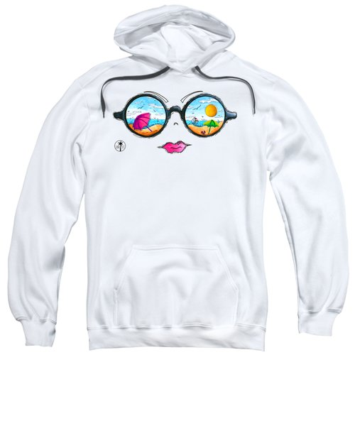Beach Day Sunglass Design From The Sunnie Tees 2016 Collection Sweatshirt by Megan Duncanson