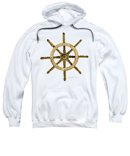Beach House Nautical Boat Ship Anchor Vintage Sweatshirt by Audrey Jeanne Roberts