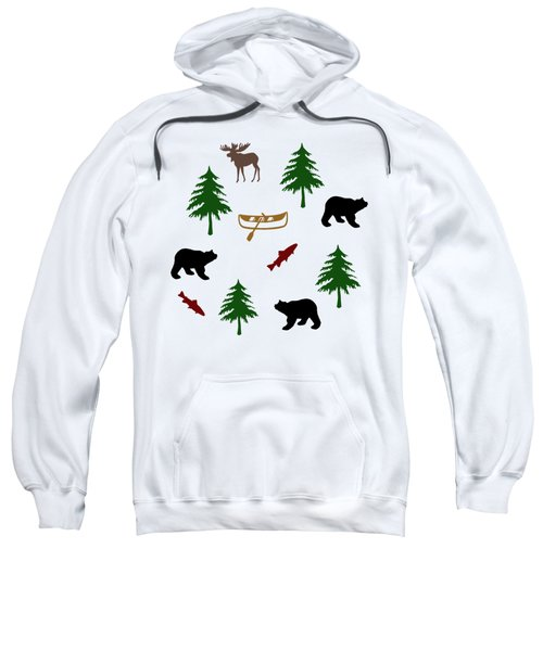 Bear Moose Pattern Sweatshirt by Christina Rollo