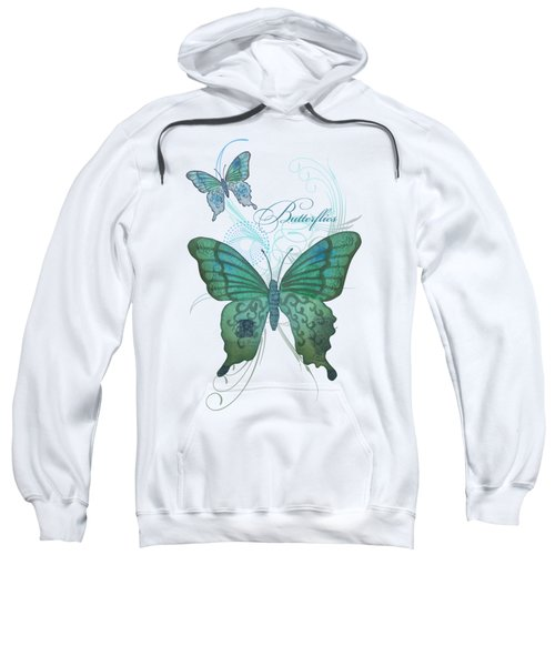 Beautiful Butterflies N Swirls Modern Style Sweatshirt by Audrey Jeanne Roberts