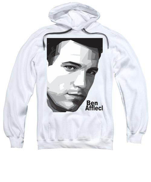 Ben Affleck Portrait Art Sweatshirt by Madiaz Roby