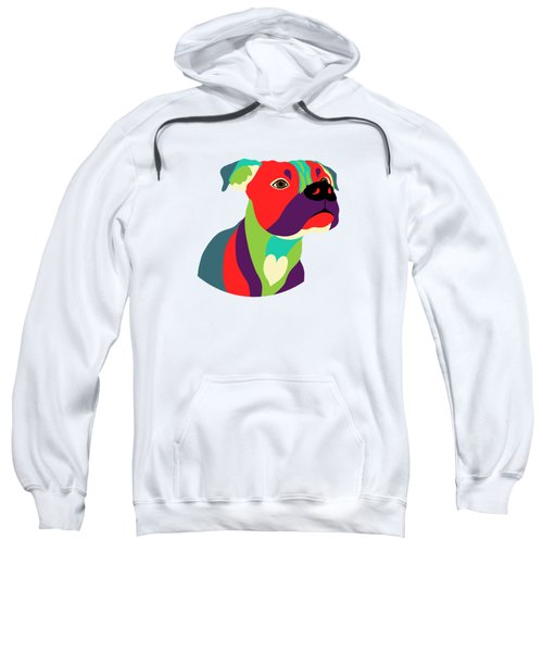 Bennie The Boxer Dog - Wpap Sweatshirt by SharaLee Art