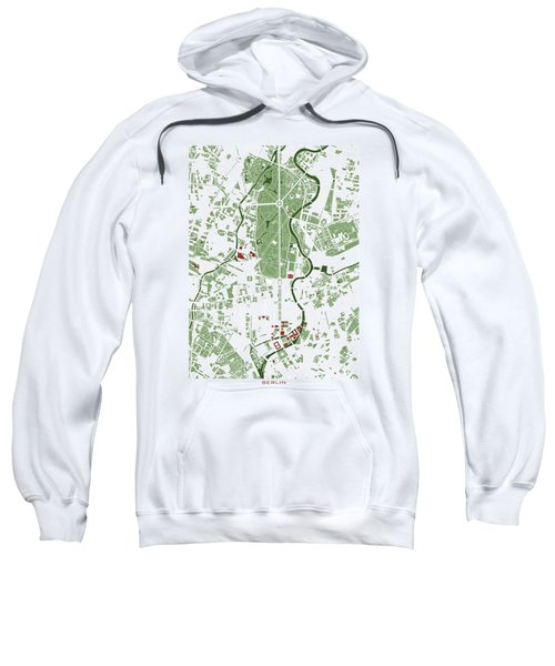 Berlin Minimal Map Sweatshirt by Jasone Ayerbe- Javier R Recco