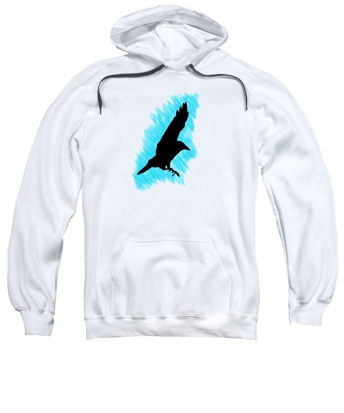 Black And Blue Sweatshirt by Linsey Williams