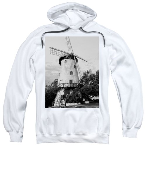 Black And White Windmill Sweatshirt by Sandy Taylor