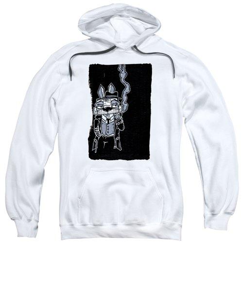 Blake Burns Detective Bunny Sweatshirt by Bizarre Bunny