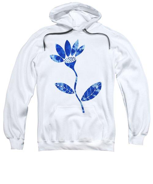 Blue Flower Sweatshirt by Frank Tschakert