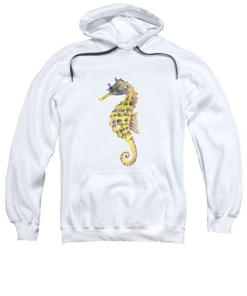Blue Yellow Seahorse - Square Sweatshirt by Amy Kirkpatrick