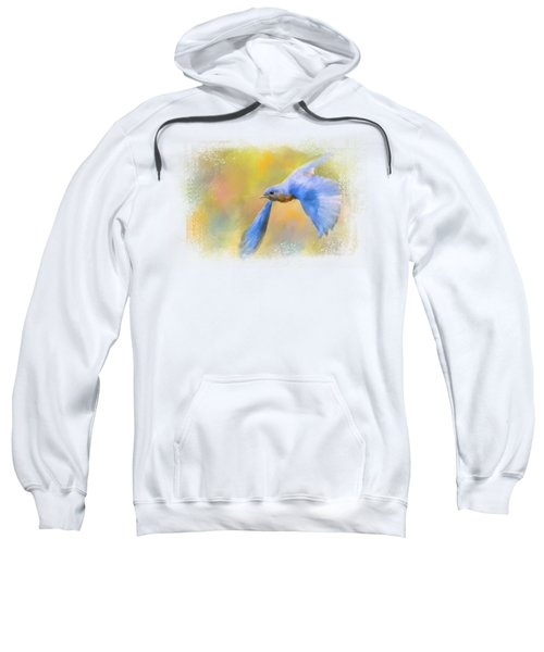 Bluebird Spring Flight Sweatshirt by Jai Johnson