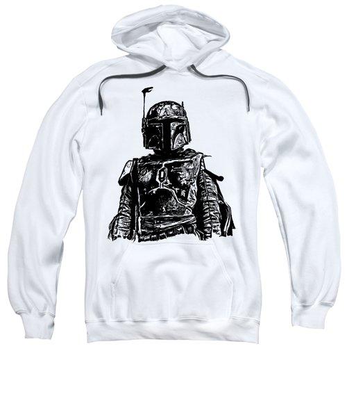 Boba Fett From The Star Wars Universe Sweatshirt by Edward Fielding