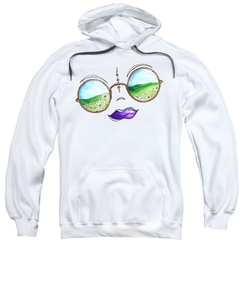 Boho Gypsy Daisy Field Sunglasses Reflection Design From The Aroon Melane 2014 Collection By Madart Sweatshirt by Megan Duncanson