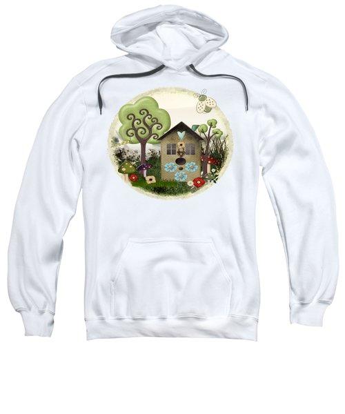 Bonnie Memories Whimsical Mixed Media Sweatshirt by Sharon and Renee Lozen