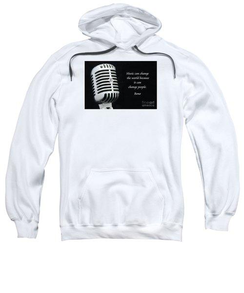 Bono On Music Sweatshirt by Paul Ward