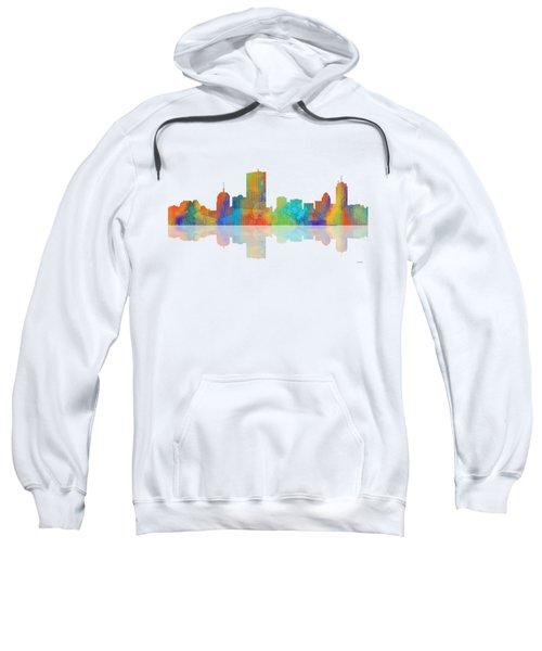 Boston Ma. Skyline Sweatshirt by Marlene Watson