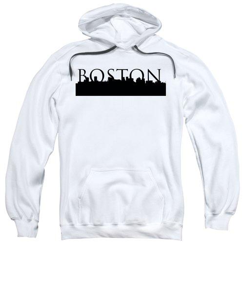 Boston Skyline Outline With Logo Sweatshirt by Joann Vitali
