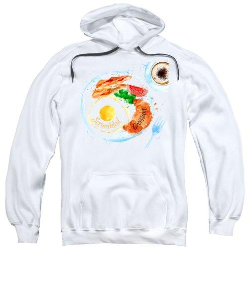 Breakfast 01 Sweatshirt by Aloke Design