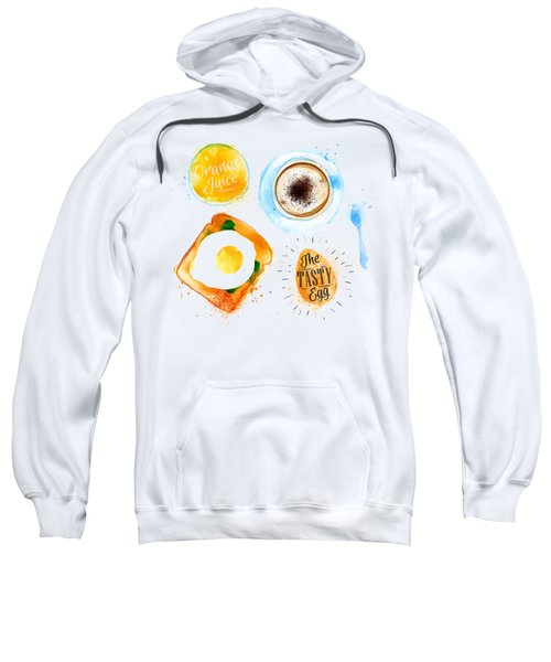 Breakfast 02 Sweatshirt by Aloke Design