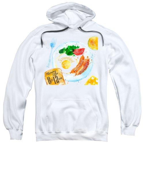 Breakfast 04 Sweatshirt by Aloke Design