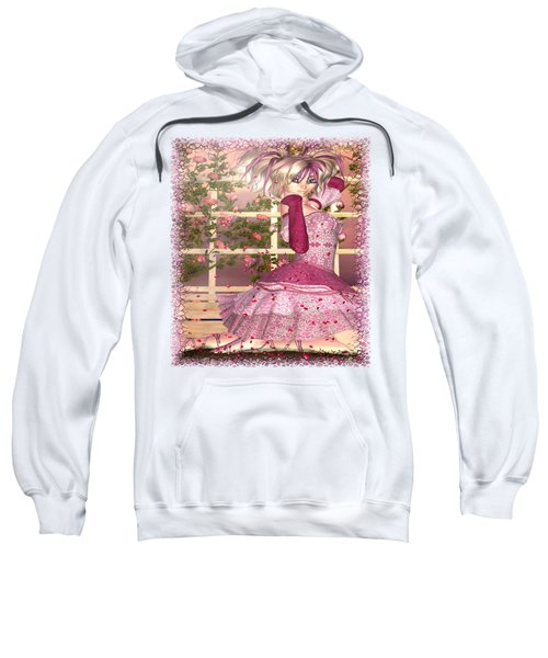 Breath Of Rose Fantasy Elf Sweatshirt by Sharon and Renee Lozen