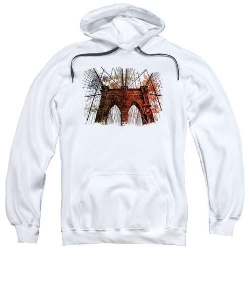 Brooklyn Bridge Art 1 Sweatshirt by Di Designs