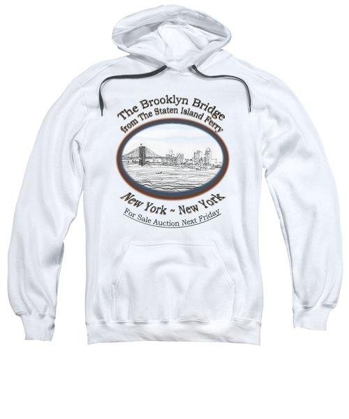 Brooklyn Bridge Sweatshirt by James Lewis Hamilton
