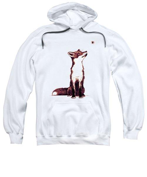 Brown Fox Looks At Thing Sweatshirt by Nicholas Ely