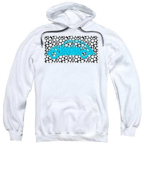 Bubble Car Vw Beetle Sweatshirt by Edward Fielding