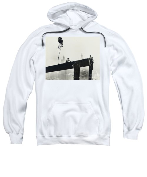 Building The Empire State Building Sweatshirt by LW Hine