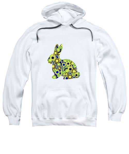 Bunny - Animal Art Sweatshirt by Anastasiya Malakhova