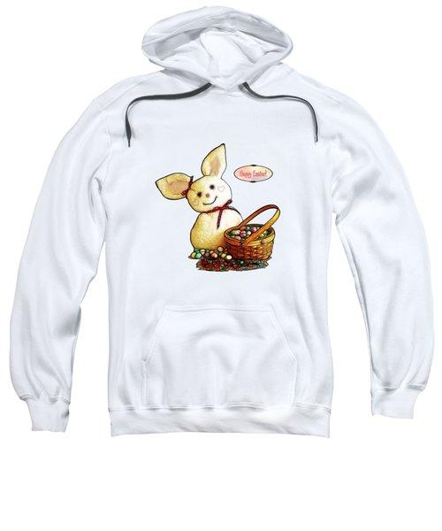 Bunny N Eggs Card Sweatshirt by Methune Hively