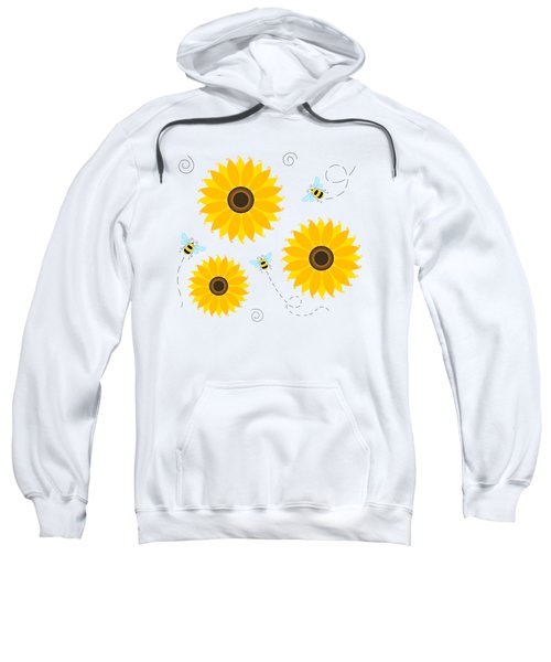 Busy Bees And Sunflowers - Large Sweatshirt by Shara Lee