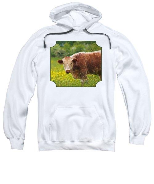 Buttercup - Brown Cow Sweatshirt by Gill Billington