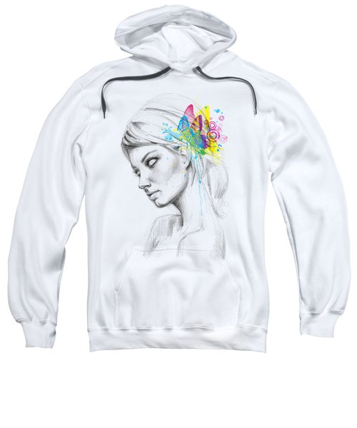 Butterfly Queen Sweatshirt by Olga Shvartsur