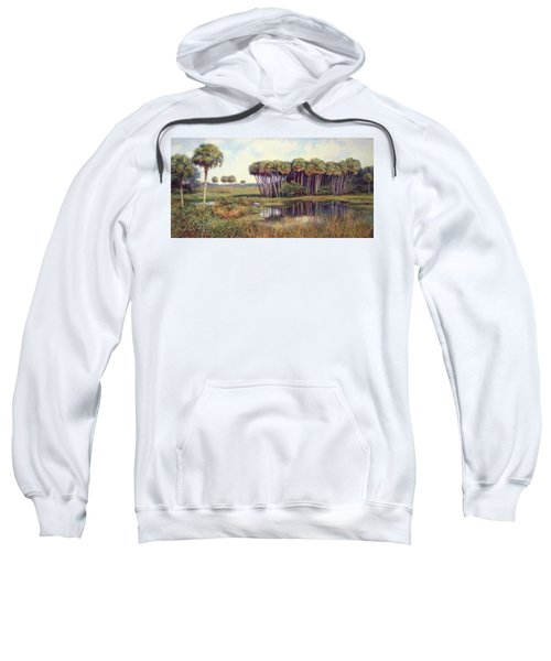Cabbage Palm Hammock Sweatshirt by Laurie Hein