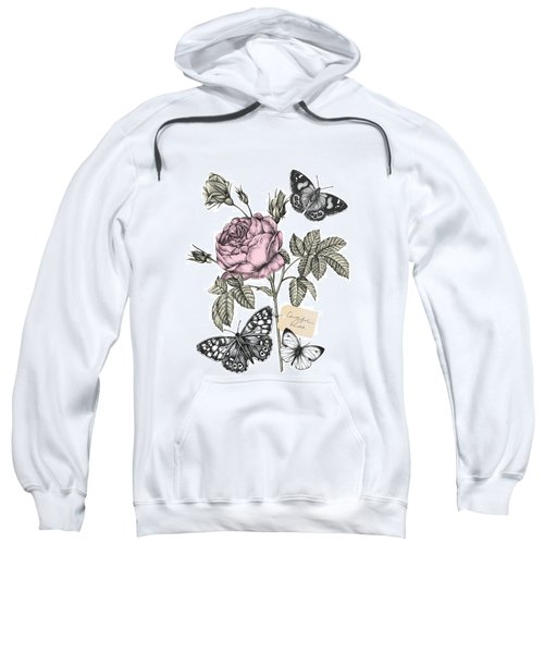 Cabbage Rose Sweatshirt by Stephanie Davies