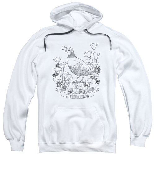 California State Bird And Flower Coloring Page Sweatshirt by Crista Forest