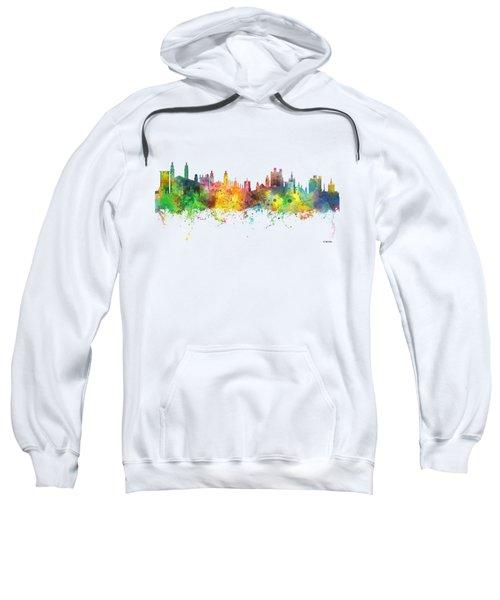 Cambridge England Skyline Sweatshirt by Marlene Watson