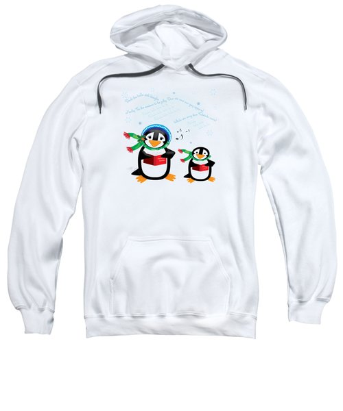 Caroling Penguins Sweatshirt by Jane E Rankin