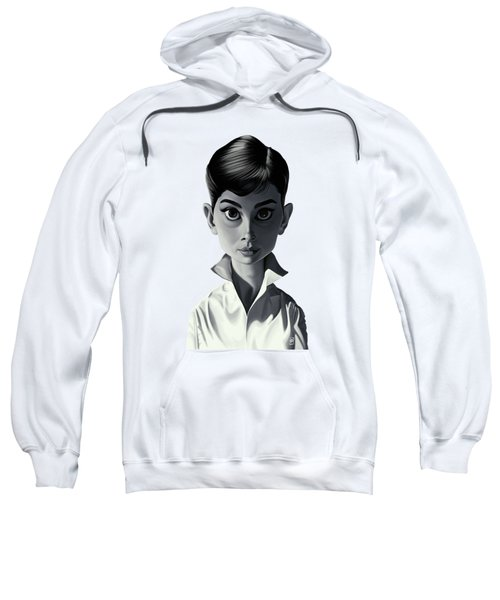 Celebrity Sunday - Audrey Hepburn Sweatshirt by Rob Snow