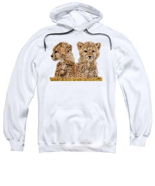 Cheetah Cubs Sweatshirt by Angeles M Pomata
