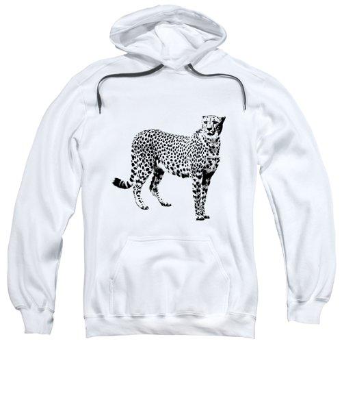 Cheetah Cutout Sweatshirt by Greg Noblin