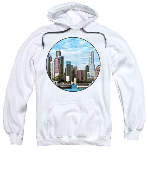 Chicago Il - Chicago Harbor Lock Sweatshirt by Susan Savad
